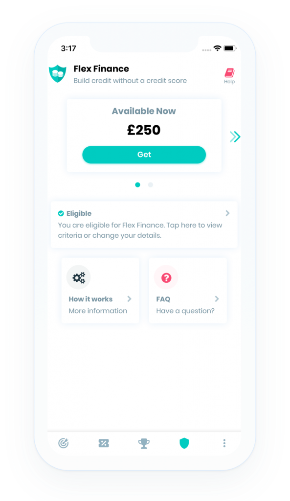 Screenshot of Flex Finance within the Portify app